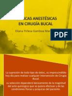 tecnicas anestesicas
