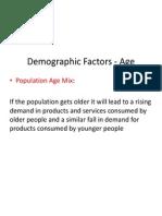 Demographic Economic Factors