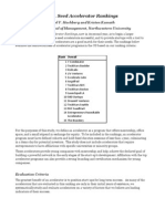 Startup Accelerator Rankings Methodology & Companion Report - Kellogg School of Management Northwestern