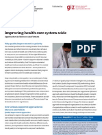 Improving health care system-wide