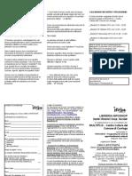 Scheda iscrizione e volantino Cibo e affettività Multiplo