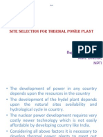 Site Selection for Thermal Power Plant