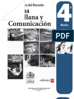 Libro del Profesor Lenguaje y Comunicación 4 Medio