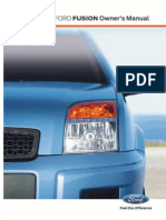 Ford Fusion User Manual