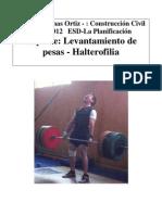 Patricio Salinas  - planificación Halterofilia