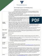 Weidenfeld Scholarships 2008/09