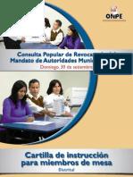 CPR 2012 Cartilla de instrucción para miembros de mesa - Distrital
