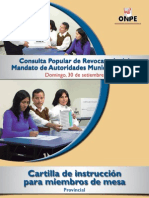 CPR 2012 Cartilla de instrucción para miembros de mesa - Provincial