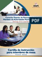 CPR 2012 Cartilla de instrucción para miembros de mesa - Provincial / Distrital