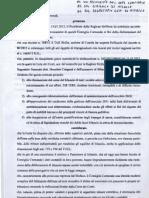 Diffida Sindaco di Milazzo - Conto Consuntivo 2011