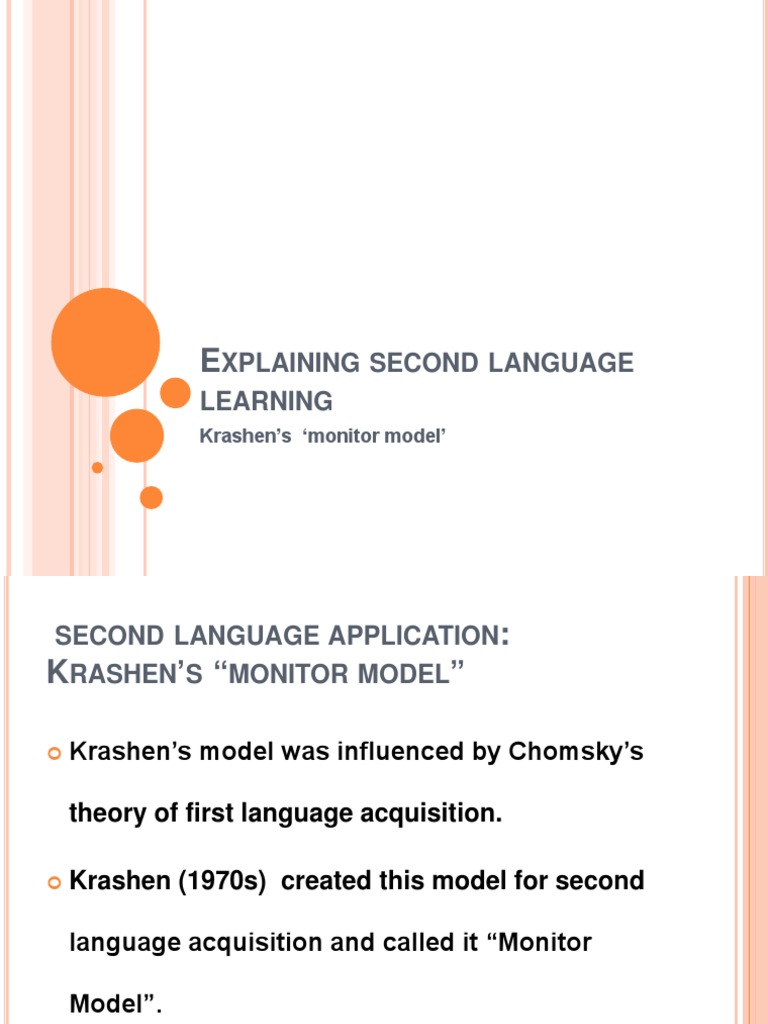 essays on second language learning theories Theories of second-language acquisition are various theories and hypotheses in the field of  learning the grammar of a second language is simply a matter of.