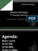 Mentor Monday 8_20.12