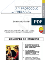 Etiqueta y Protocolo