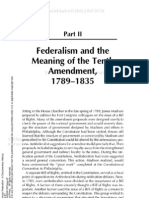 States Rights American Federalism a Documentary History Part II Federalism and the Meaning of the Tenth Amendment 1789 1835