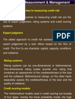 Credit Risk Measurement & Management