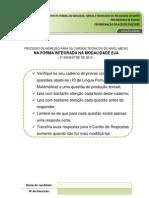 Avaliacao Proeja ifrn Final 2012.2