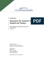 Generator für statische Webseiten inHaskell mit Pandoc