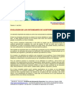 EVOLUCIÓN DE LOS ESTÁNDARES DE AUDITORÍA nias
