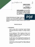 PL01426160812 Ley reforma constitucional no reelección INGA