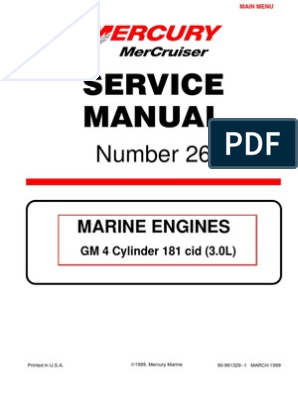 Mercruiser 4 Cyl 3 0 Service Manual | Gasoline | Internal Combustion