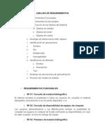 Analisis de Requerimientos Biblioteca Pamplona