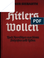 Siebarth, Werner - Hitlers Wollen - Nach Kernsaetzen Aus Seinen Schriften Und Reden (1939, 321 S., Scan, Fraktur)