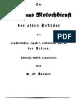Daumer, G. Fr. - Der Feuer- und Molochdienst der alten Hebräer; 1842