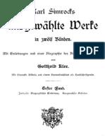 Simrock, Karl - Gesammelte Werke 01 - Ausgewaehlte Gedichte (160 S., Scan, Fraktur)