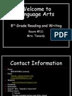 Welcome to Language Arts