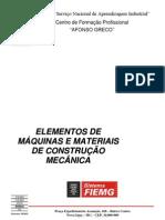 Elementos de Máquinas e Materiais de Construção Mecânica