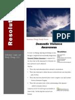 Domestic Violence Awareness Flyer