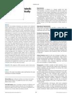 Electrolitos y Disturbios Metabolicos en Pacientes Criticos