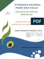 Valoracion Economica Ambiental de Zonas Reservadas