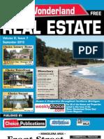 Water Wonderland Real Estate - September 2012