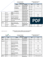 Training Calendar Aug- Oct 2012