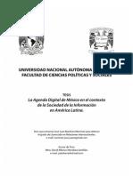 Tesis Agenda Digital de México en el contexto de la Sociedad de la Información en América Latina