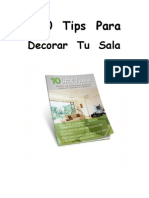 10 Tips Para Decorar Tu Sala