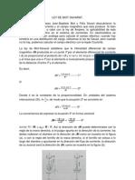 Ley de Biot-savart