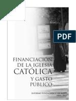 Financiación de la Iglesia Católica y Gasto Público