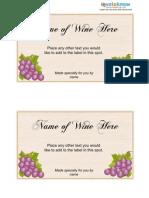 445 Wine Label Template1