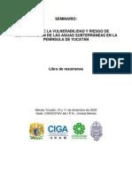 resúmenes Vulnerabilidad y riesgos de contaminación agua subterránea Península Yucatán