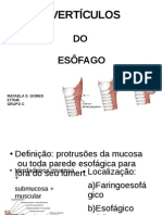 DIVERTÍCULOS DO ESÔFAGO FINAL