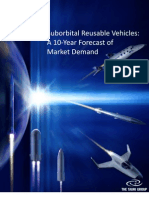 Suborbital Reusable Vehicles a 10 Year Forecast of Market Demand