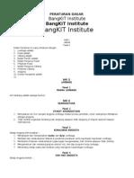 Draft Peraturan Organisasi Bangkit