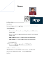 Resume Dinesh 1