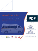 Brandhouse Number One Taxi Driver Campaign 2012 - National Finals - Gala Dinner Invite