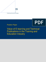 TWB Position Paper E-Learning Industry