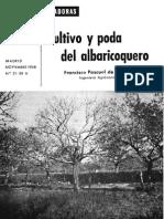 Cultivo y Poda Del Albaricoquero