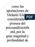 Como Las Aportaciones de Melanie Klei1