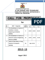 Proposal Format CESEM-CISE-SMYSR 2012